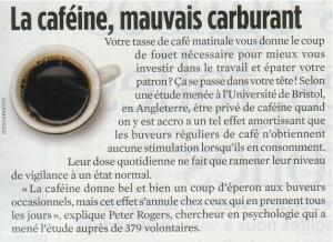 La Caféine, Mauvais Carburant
